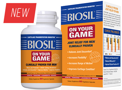 Biosil On Your Game. Joint relief for men